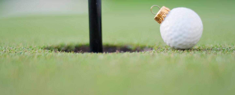 Christmas golf ball ornament