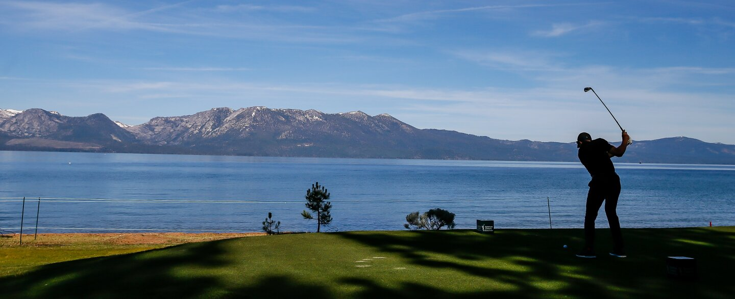 Edgewood Tahoe Golf Course 17th hole tee shot