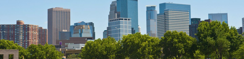 Minnesota, Minneapolis Skyline from Walker Art Center