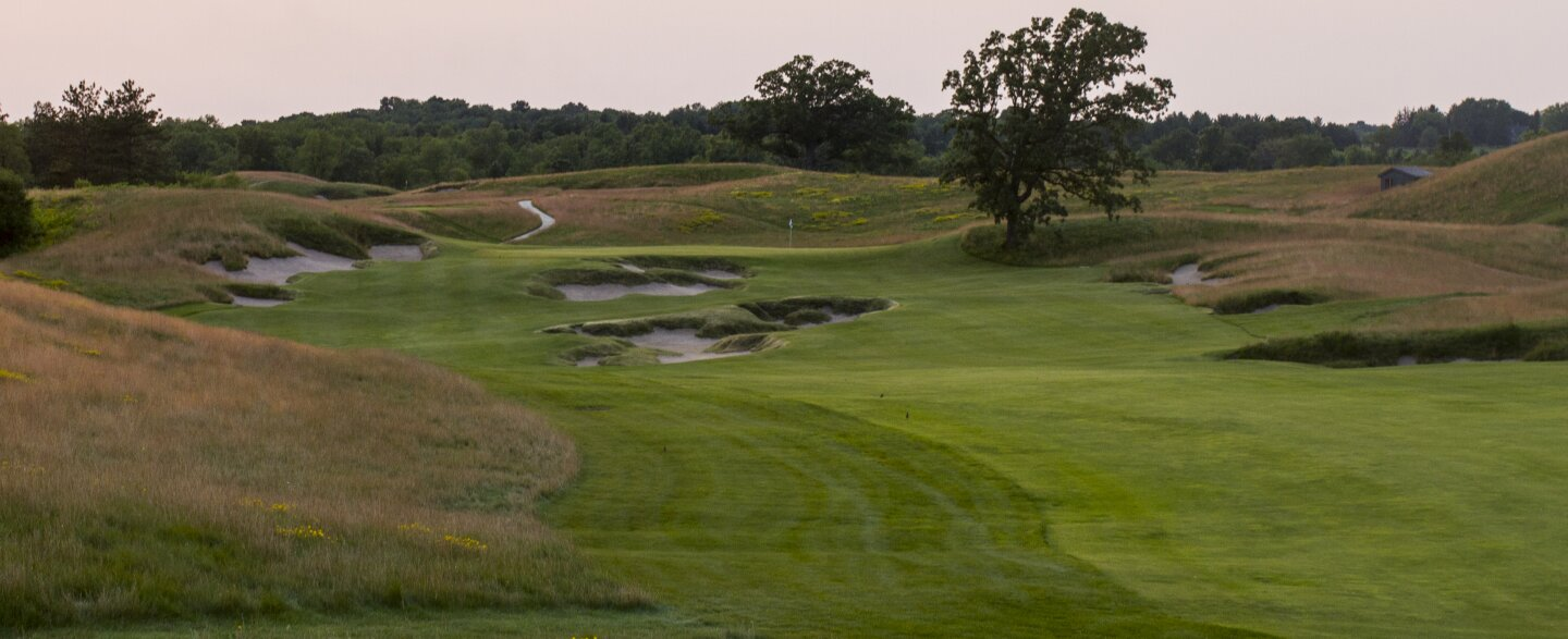 Erin Hills golf course - hole 4